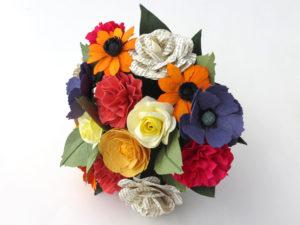 multicolour paper bouquet