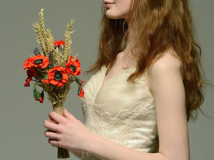 red poppy paper bouquet