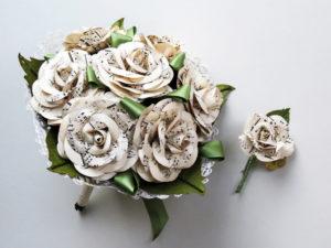 sheet music wedding bouquet