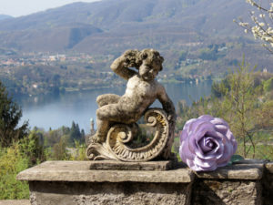 view over orta lake