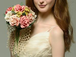 pastel sheet music rose bouquet