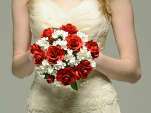 roses and viburnum paper bouquet