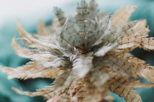 paper feather bouquet