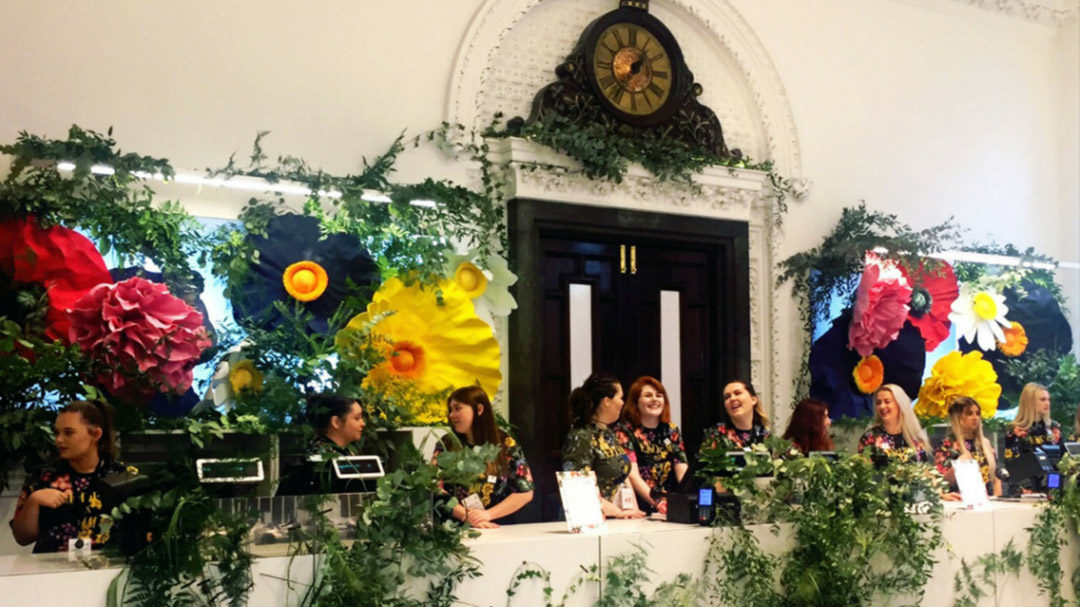 Floral Backdrop at H&M Flagship Store | Dublin